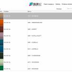 Míchací software IVE - RAL